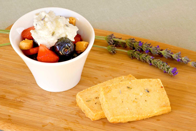 La Di Da Lavender Cheddar Shortbread & Berry Parfaits