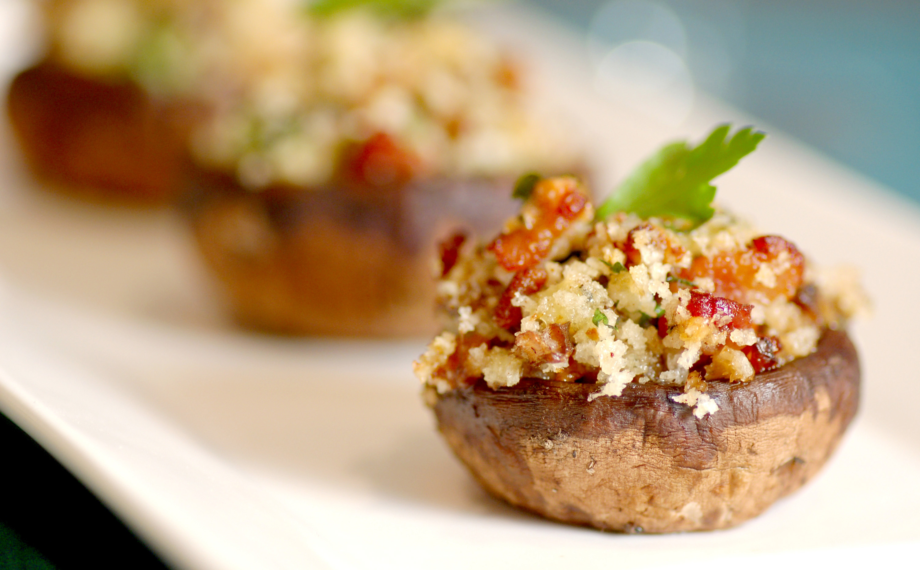 Oregon Blue Bacon Stuffed Mushrooms