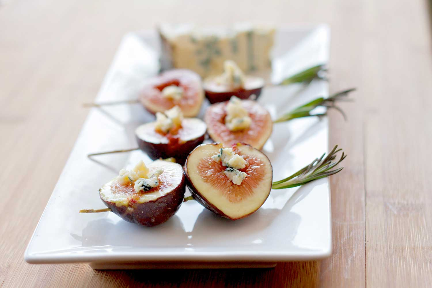 Rogue River Blue with Honey Bourbon Grilled Figs