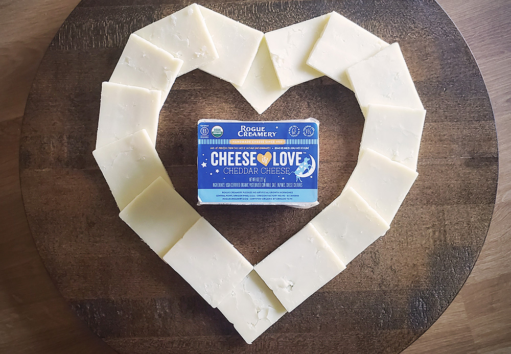 Cheese is love cheddar